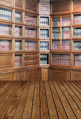 Vinyl Backdrops For Photography Old Wooden Bookshelf For Books Library Study Home Decor Photo Backgrounds Photo Studio A18 5x3ft/1.5x1m