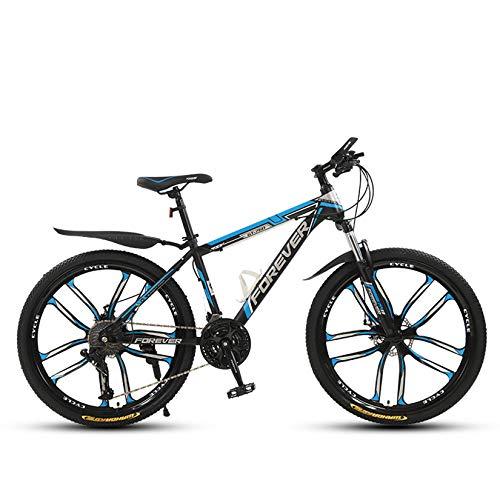 WLWLEO Bicicleta de montaña para Adultos Bicicleta de 26 Pulgadas y 21 velocidades Bicicleta de montaña Ligera para Damas Freno de Disco Doble Ciclismo Deportivo al Aire Libre,C,24' 27 Speed