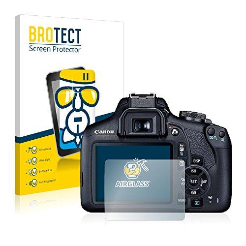 BROTECT Protector Pantalla Cristal Compatible con Canon EOS 2000D Protector Pantalla Vidrio Dureza 9H AirGlass