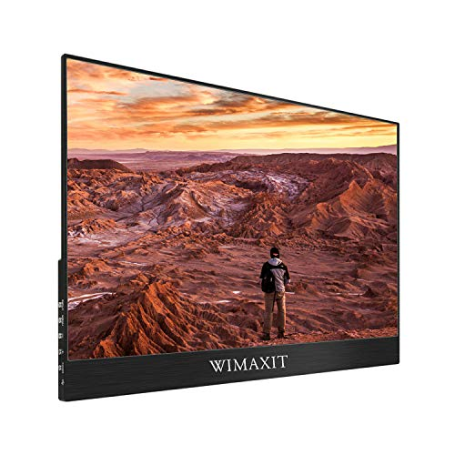 WIMAXIT Portable Touch Monitor, 15.6 Inch USB C HDR Ultra-Slim FHD 1080 16:9 Display Type-C(Gen2)/2 HDMI/USB Interface, for Switch,Xbox,PS4,Cellphone,PC,Laptop,Nokia9 pureview,Mate40,S20