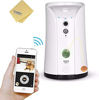 Venidice skymee 2-Way Audio Dog Camera, Night Vision Pet Camrea, WiFi Remote Control for Treat Dispenser Cleaning Cloth