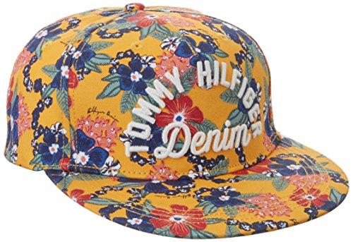 Tommy Jeans Mujer CAP 12 Gorra de béisbol Multicolor (Pinto Print/marigold) X-Large (Talla del fabricante: L-XL)