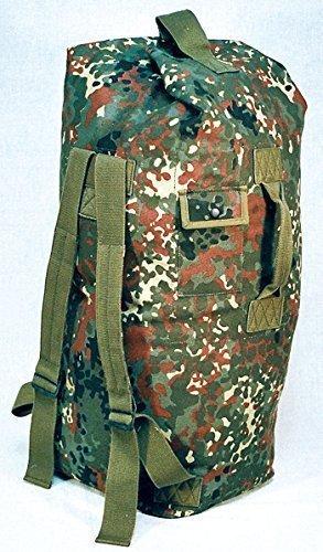 Commando Industries Bundeswehr Seesack Wäschetasche Rucksack in Schwarz, Oliv oder Flecktarn (Flecktarn)