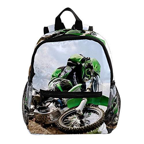 Moto Mochila 3-8 años Mochila Ligera para niños pequeños para Preescolar Guardería y Bolsa de pañales para bebés de Viaje 25.4x10x30CM
