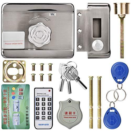 Jingyi Cerradura de Puerta electrónica Segura y Duradera, Acceso de Puerta electrónica ID de Sistema de Control Remoto Inteligente Cerradura de 12V de Cabezal único