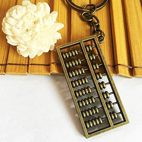 N-K Pulabo, bonito y exquisito, moderno, decorativo, de aleación de abacus, llavero de mochila, colgante vintage, llavero abacus, cómodo y práctico