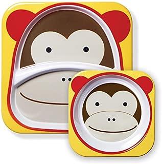 Skip Hop Baby Plate and Bowl Set, Melamine, Monkey