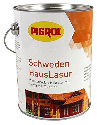 Pigrol Schwedenhauslasur 2,5L polarweiss Dickschichtlasur für alle Hölzer im Außenbereich
