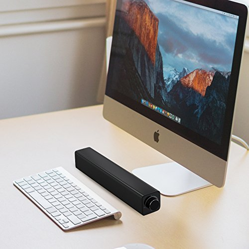 Sound bar, 20 W soundbar luidspreker, draagbare bekabelde met 3,5 mm audio-aansluiting, home theater bluetooth luidspreker, surround audio-stereosysteem voor tv, pc, smartphones, laptops enz.