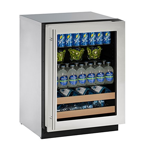 U-Line U2224BEVS13A Built-in Beverage Center, 24', Stainless Steel