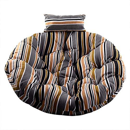 Cojín del asiento de la cesta colgante del columpio, respaldo grueso de la silla cojines grandes de la silla de Papasan que cuelgan el cojín de la silla del huevo interior al aire libre F 110 * 110cm