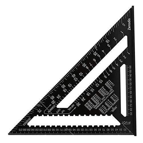 12 Zoll Aluminium Dreieck, Imperial Anschlagwinkel, Lineal Goniometer, Dreieck Winkelmesser, Hohe Genauigkeit, Werkzeuge Mit Oxid-Finish, für Zimmermann, Rahmen, Dachdecken, Bauen