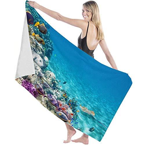 Toalla Beach Towels Toallas Shower Towels Bathroom Towels Escuela de peces Reef Colorful World,130CM X80CM
