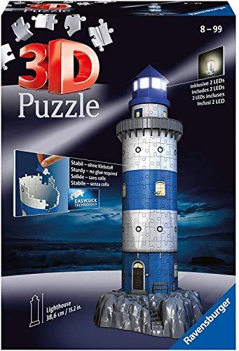 Price comparison product image Leuchtturm bei Nacht. 3D-Puzzle 216 Teile