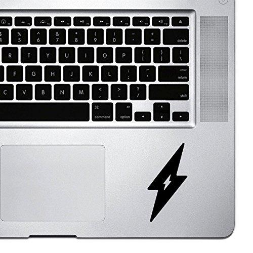 StickAny Palm Serie Lightning Bolt Aufkleber für MacBook Pro, Chromebook, und Laptops (Standard) Schwarz Schwarz