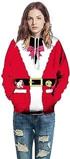 Christmas Men Women Santa Claus Mode 3D Print Long Sleeve Couples Hoodies Sweatshirt Tops