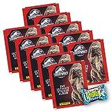Hybridserie Jurassic World The Ultimate Collection - Lote de 10 paquetes de sobres (40 pegatinas + 10 tarjetas + Center Shock)