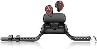 LINGJIA Pulsómetros Monitor De Frecuencia Cardíaca Smartwatch con Auriculares Fitness Tracker Monitor De Presión Arterial 2 En 1 Reloj Inteligente Y Auriculares