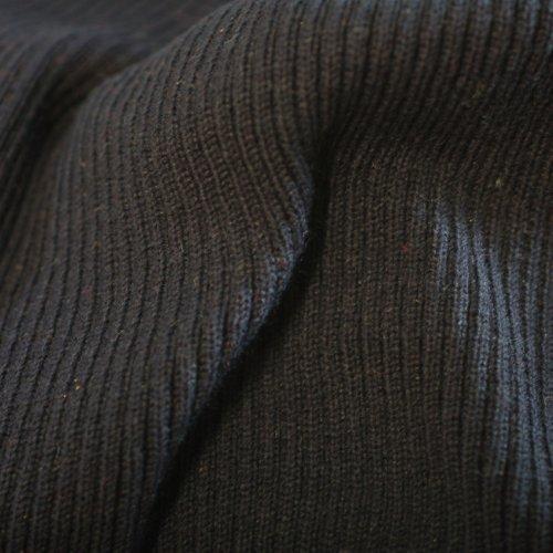 Jersey Tissu en tricot côtelé, 2 x 1 Structure en tricot 80 cm large, lavable en en tricot, une excellente durabilité et porter propriétés, de poids léger à moyen, bleu marine, 10 Meters