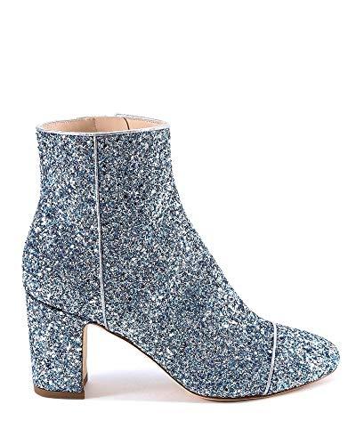 Luxury Fashion | Polly Plume Dames ALLYSPARKLINGBABYBLUE Blauw Glitter Enkellaarzen | Lente-zomer 20