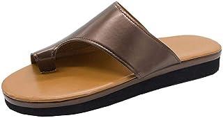 ZUOX Éte Confort Pantoufles de Bain,Pantoufles à Bouts Larges pour Femmes, Sandales à Plateforme-Rouge Tung_35,Hommes Été ...