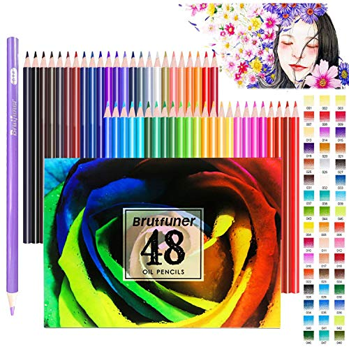 Coloured pencils Set, Colouring Pencils, Surcotto Pack of 48 Drawing Pencil...