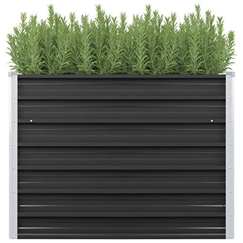 Tidyard Jardinera Exterior,Jardinera de Acero galvanizado Gris Antracita 100x40x77 cm