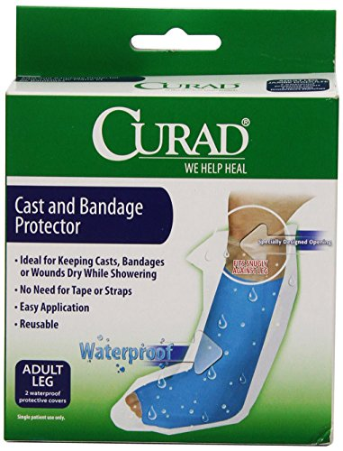 Curad Cast Protector Adult Leg, 2 Count,CUR200ALL,Blue