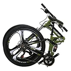 21 Speed Shifting system Front /Rear Derailleur and Shifter for Reliable Shifting. Dual suspension mountain bike with dual Disc brake is easily portable to move around. This bicycle arrives with 85% assembled. You need to install the front wheel, ped...