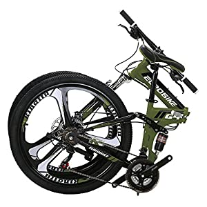 Mountain Bikes Eurobike G4 Mountain Bike 21 Speed Steel Frame 26 Inches Wheels Dual Suspension Folding Bike [tag]