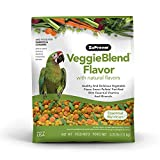ZuPreem VeggieBlend Smart Pellets Bird Food for Parrots & Conures, 3 lb bag | Made in the USA, Daily Nutrition, Essential Vitamins, Minerals for African Greys, Senegals, Amazons, Eclectus, Cockatoos