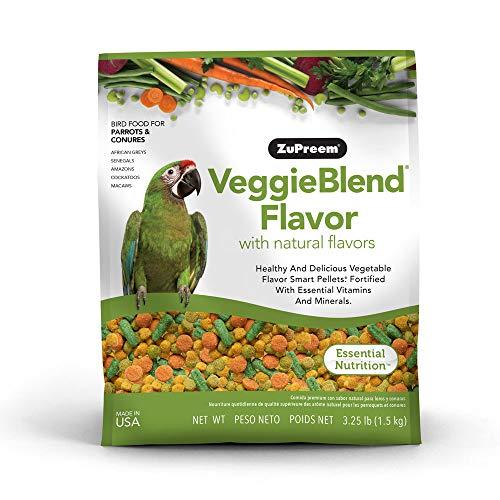 Zupreem veggieblend All Natural Carrot Flavor Medium Large Bird Food 3.25lbs