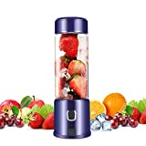 Portable Glass Smoothie Blender, Kacsoo SPOW S650 USB Rechargeable Personal Blender Juicer Cup,...