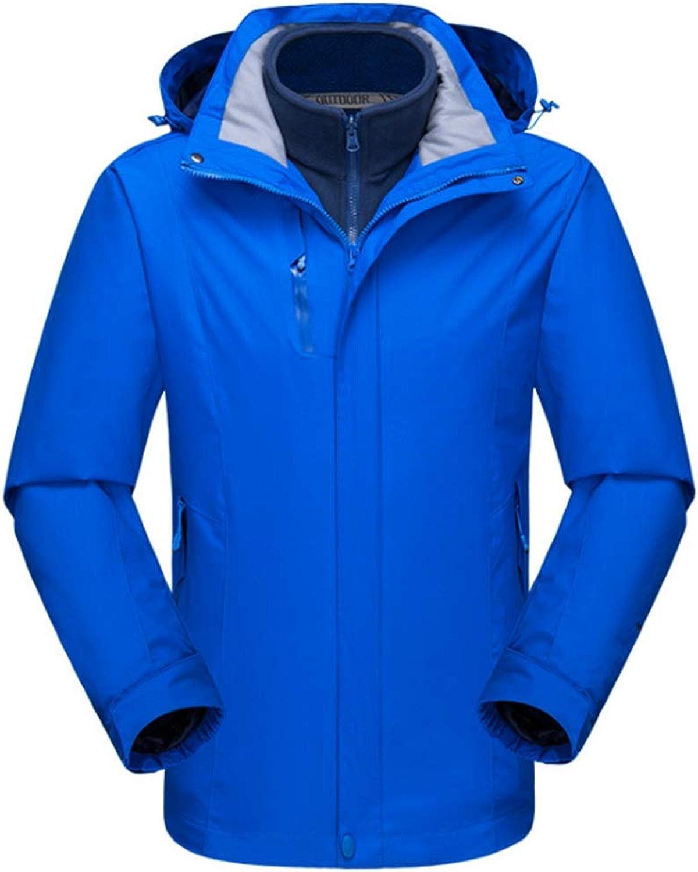 Jakiload Outdoor Mountain Ski Jacket Windproof Waterproof Rain Jacket 3 in 1 Jacket for Men (color   01, Size   XL)