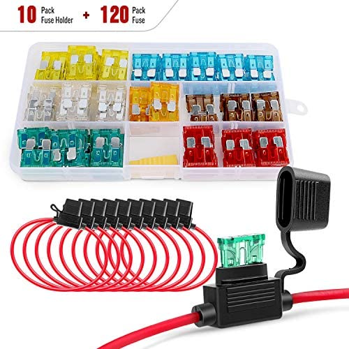 Nilight 50029R 120 Pcs Standard Blade Fuse 5A 7 5A 10A 15A 20A 25A 30A AMP Assorted Set with product image