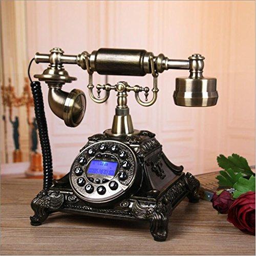 ZHENYANG Teléfono Europeo Dormitorio Familiar Teléfono Fijo Retro Teléfono De Escritorio Clásico teléfono (Color : A)