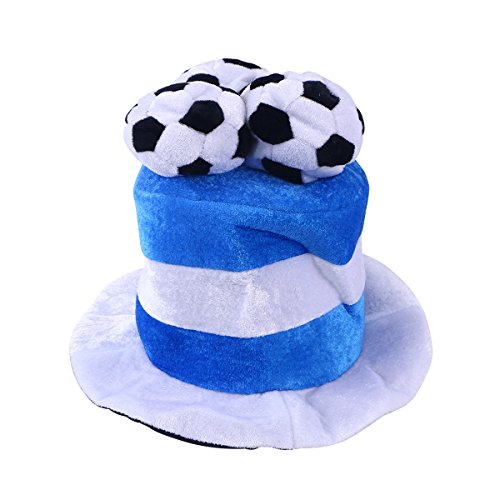 Chapéu de futebol americano LUOEM Chapéu de festa Chapéu de cabeça Fãs de torcida Campeão Mundial Jogo de Futebol Celebração Chapéu (Argentina)