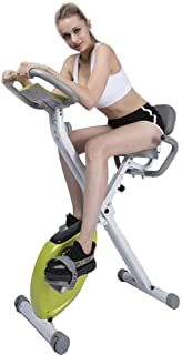 Fitness Bike with Training Computer, Bicycle Spinning Bicycle, Silent Indoor Sports Fitness Equipment Collapsible