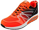 LEKANN N. 308 - Scarpe da ginnastica da uomo, con ammortizzazione e antiscivolo, misura 41-46 EU, Multicolore (arancione/nero), 47 EU