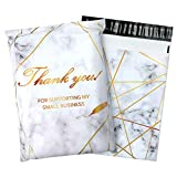 100 Pack Poly Mailers 10x13, Cute Packaging Envelope Mailers Polymailers Packaging for Small Business, Shipping Bags for Clothing Boutique Supplies with Self Seal Strip (Marble)