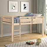 XLO Junior Low Loft Beds Wood Bunk Kids Bed Bedroom Furniture with Guard Raill and Ladder Perfect for Boys, Girls, Kids and Young Teens Easy Assembly (Color : Natural)