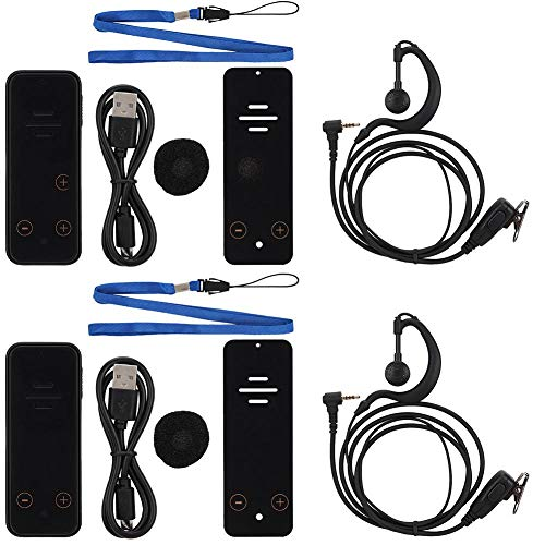Agatige 400-480mhz Mini Walkie-Talkie de Negocios UHF/VHF Walkie-Talkie Manos Libres Recargables Walkie-Talkie portátil