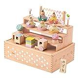 (ファンファン) 雛人形 ひな人形 Puca プーカのひなにんぎょう HAKO 収納箱付き 木製 名前札つき 日本製