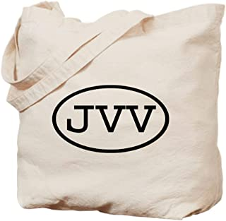 CafePress JVV Oval Natural Canvas Tote Bag, Reusable Shopping Bag