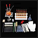 AIOXY Cristal Equipo Químico Instrumento Laboratorio De Ciencias Básicas Trípode Prueba De Alcohol Lámpara del Tubo del Bastidor De Experimentación De Enseñanza