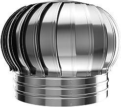 Jonist Ventilador de turbina giratoria, hilador de Chimenea de Acero Inoxidable, hilandero de Capucha, Anti Tiro descendente (tamaño: 300 mm)
