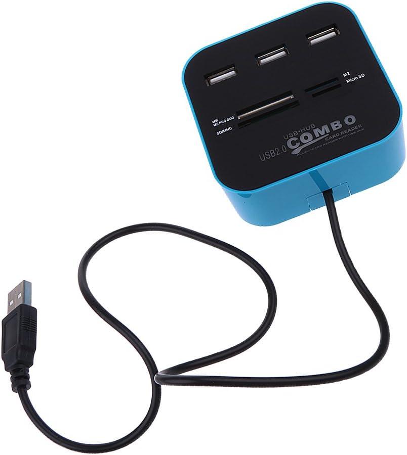 Homyl Multi Card Reader with Baltimore Mall 3 List price USB SD Combo Ports for Hub 2.0 Ne