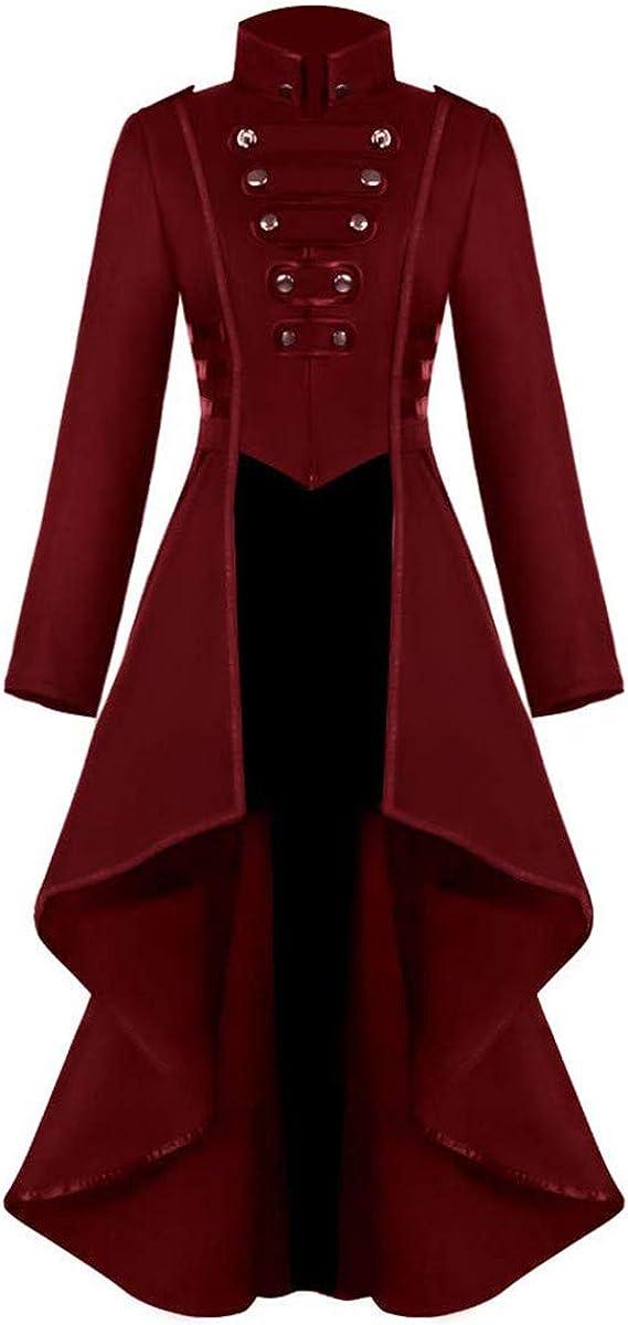 YUAKOU Women's Steampunk Jacket Vin Irregular Victorian Tailcoat Max Max 57% OFF 54% OFF