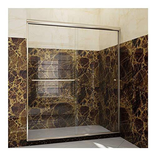 SUNNY SHOWER Frameless Glass Sliding Shower Door, 60