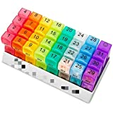 Pastillero 32 Slots Monte Pill Organizer Box Tablet Holder Medicine Container Organizer Case Travel Daily Pill almacenaje Caja de almacenamiento fácil de cargar,